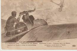 CPA - LE 2 SEPTEMBRE 1914 - VEDRINES SUR SON BLERIOT DESCEND UN TAUBE A COUPS DE MITRAILLEUSE - E. L. D. - Guerra 1914-18