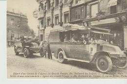 CP - DEPART D'UN CIRCUIT DE L'AGENCE DES GRANDS VOYAGES -  PARIS - CARTES D'AUTREFOIS. - REPRODUCTION - Transporte Público