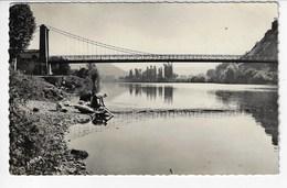46 - CAJARC - Le Pont Suspendu Sur La Lot - Animée - 1957 (Y158) - France