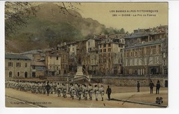 04 - DIGNE - Le Pré De Foères - Animée (Régiment) - 1907 (Y159) - Digne