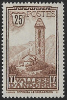 Andorra (French POs) SG F31 1932 Definitive 25c Mounted Mint [39/32099/7D] - Andorre Français