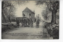60 - MAREUIL La MOTTE - Ferme Ste Claude - Animée (militaires) (Y160) - France