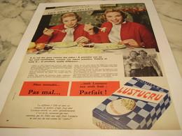 ANCIENNE PUBLICITE LEQUEL DES  JUMEAUX A RAISON PATE  LUSTUCRU 1958 - Afiches