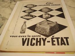 ANCIENNE PUBLICITE VOUS AVEZ LA SANTE  VICHY  ETAT 1958 - Afiches