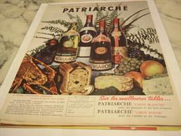 ANCIENNE PUBLICITE VIN LES  BOURGOGNES PATRIARCHE 1958 - Alcools