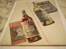 ANCIENNE PUBLICITE DRY OU DOUX NOILLY PRAT 1958 - Alcools