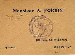 """1915- C E Orient - Enveloppe En F M   - """" Le Comm.t Du Dépôt Des Isolés * Alexandrie * - Marcophilie (Lettres)"""
