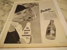 ANCIENNE PUBLICITE UN PLAISIR SANS MELANGE  LIMONADE PSCHITT 1958 - Afiches