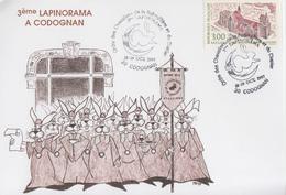 Carte  FRANCE   3éme  LAPINORAMA    CODOGNAN   1997 - Lapins