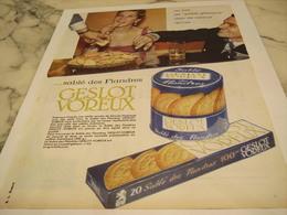 ANCIENNE PUBLICITE  SABLE DES FLANDRES GESLOT VOREUX 1958 - Affiches