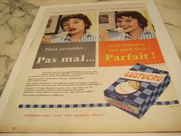 ANCIENNE PUBLICITE NE SE RESSEMBLE PAS PATE  LUSTUCRU 1958 - Affiches