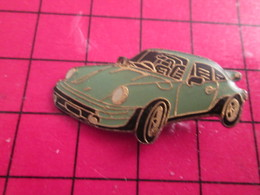 1315a Pin's Pins / De Belle Qualité Et Rare / THEME AUTOMOBILES : PORSCHE 911 BLEU OEUF DE CANARD - Porsche