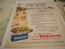 ANCIENNE PUBLICITE NOUVELLE  VEGETALINE 1958 - Affiches