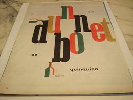 ANCIENNE PUBLICITE APERITIF VIN TONIQUE  DUBONNET 1958 - Alcohols