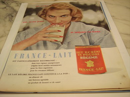 ANCIENNE PUBLICITE GARDER SA LIGNE RESTE JEUNE FRANCE LAIT 1958 - Afiches