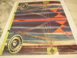ANCIENNE PUBLICITE BONNE ANNEE VOITURE   RENAULT 1958 - Publicités