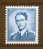 BELGIE Boudewijn Bril * Nr 1069Ba * Postfris Xx * WIT  PAPIER - 1953-1972 Lunettes