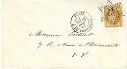 1868- Enveloppe De PARIS / R.DU PONT-NEUF  Affr N°28  Oblit. étoile 17   ( Courrier Local ) - Marcophilie (Lettres)