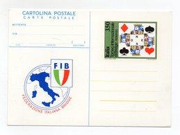 """Italia - 1983 - Cartolina Postale  """" Federazione Italiana Bridge """"  - Nuova - (FDC14927) - Giochi"""