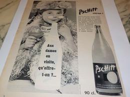 ANCIENNE PUBLICITE AUX DAMES EN VISITE  LIMONADE PSCHITT 1958 - Affiches