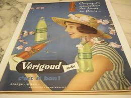 ANCIENNE PUBLICITE  SODA VERIGOUD 1958 - Affiches