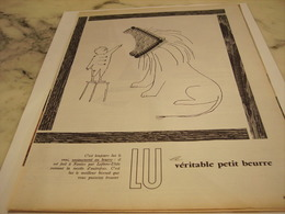 ANCIENNE PUBLICITE VERITABLE  PETIT BEURRE  LU 1958 - Afiches