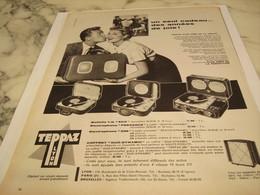 ANCIENNE  PUBLICITE UN SEUL CADEAU  ELECTROPHONE  DE TEPPAZ 1958 - Autres