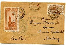 Cachet Temporaire STRASBOURG EXPOSITION PHILATELIQUE Sur N°230 Du 12/06/1927+ Vignette De L Exposition - Marcophilie (Lettres)