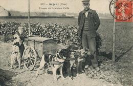 Argent Sur Sauldre Livreur ( Name Chocat ) Maison Planteur De Caiffa Michel Cahen. Attelage 3 Chiens. Dog Cart.Talbot - Jewish