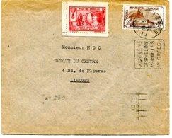 SOMME De PERONNE Daguin Sur N°230 LION DE BELFORT Sur Env. Du 23/03/1930 +vignette Pur Nos Orphelins - 1921-1960: Période Moderne