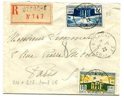 CORREZE De UZERCHE Env. Recom. Du 12/06/1925 Avec N°210 Et N°215 ARTS DECORATIFS - Marcophilie (Lettres)