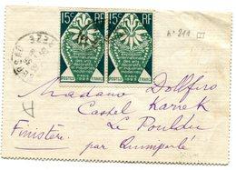 CORREZE De LUBERSAC LAC Du 12/09/1925 Avec N°211 En Paire - Marcophilie (Lettres)