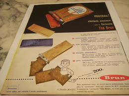 ANCIENNE PUBLICITE BISCUIT THE BRUN 1958 - Afiches