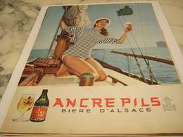 ANCIENNE PUBLICITE BIERE D ALSACE  ANCRE PILS  1958 - Alcohols