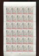 Belgie 1967 1427 Erasmus Erasme Humanism Literature Luppi Full Sheet MNH Plaatnummer 2 - Feuilles Complètes