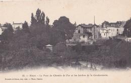 BLAYE - Le Pont Du Chemin De Fer Et Les Jardins De La Gendarmerie - Blaye