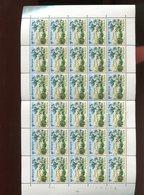 Belgie 1967 1409 Westhoek Flanders Fields Flowers Berries Dunes Luppi Full Sheet MNH Plaatnummer 4 - Full Sheets