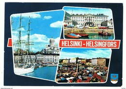 HELSINKI - HELSINGFORS:  VISIONS  -  STAMP  REMOVED  -  TO  ITALY  -  FG - Finlandia