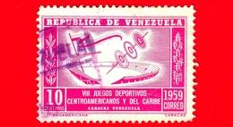 VENEZUELA - Usato - 1959 - VIII Giochi Dell'America Centrale E Caraibi - Games - 10 - Venezuela