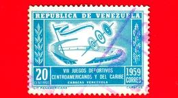 VENEZUELA - Usato - 1959 - VIII Giochi Dell'America Centrale E Caraibi - Games - 20 - Venezuela