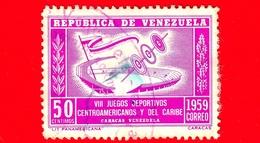 VENEZUELA - Usato - 1959 - VIII Giochi Dell'America Centrale E Caraibi - Games - 50 - Venezuela