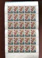 Belgie 1967 1425 Tapisserie Horse Rubicon Caesar Cesar Pompei Luppi Full Sheet MNH Plaatnummer 3 - Feuilles Complètes