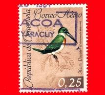 VENEZUELA - Usato - 1962 - Fauna - Uccelli -  Martin Pescatore - 0.25 - P. Aerea - Venezuela
