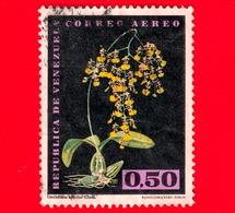 VENEZUELA - Usato - 1962 - Fiori - Orchidee - Oncidium Bicolor - 0.50 - P. Aerea - Venezuela