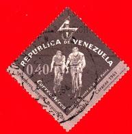 VENEZUELA - Usato - 1962 - Primi Giochi Sportivi Nazionali - Caracas, 1961 - Ciclismo - Cycling - 0.40 - P. Aerea - Venezuela