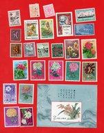 Lot De 24 Timbres 1 Bloc MONDE Neufs - Collections (without Album)