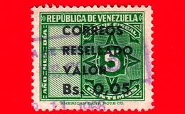 VENEZUELA - Usato - 1965 - Segnatasse - Fiscal - Tax Stamps - Resellado - 0.05 Su 5 - Venezuela