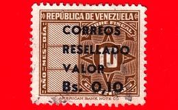 VENEZUELA - Usato - 1965 - Segnatasse - Fiscal - Tax Stamps - Resellado - 0.10 Su 10 - Venezuela