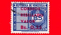 VENEZUELA - Usato - 1965 - Segnatasse - Fiscal - Tax Stamps - Resellado - 0.25 Su 5 - Venezuela