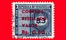 VENEZUELA - Usato - 1965 - Segnatasse - Fiscal - Tax Stamps - Resellado - 0.60 Su 3 - Venezuela